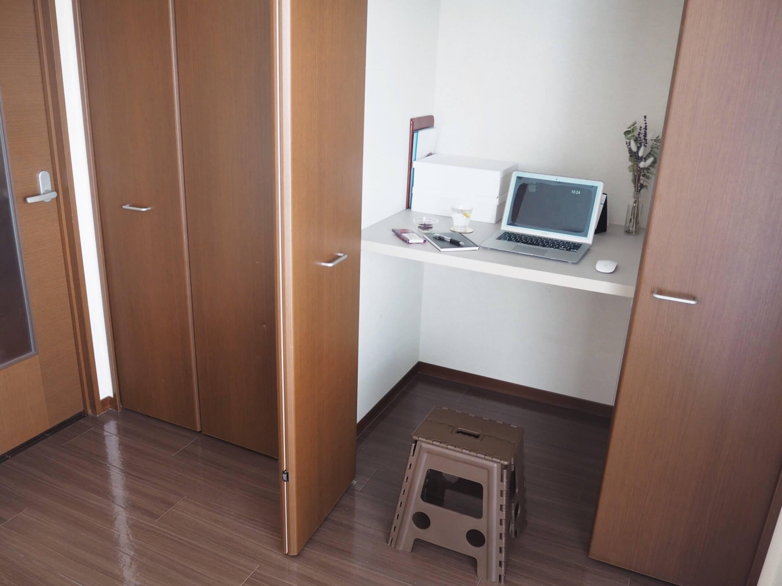 クローゼット  作業スペース