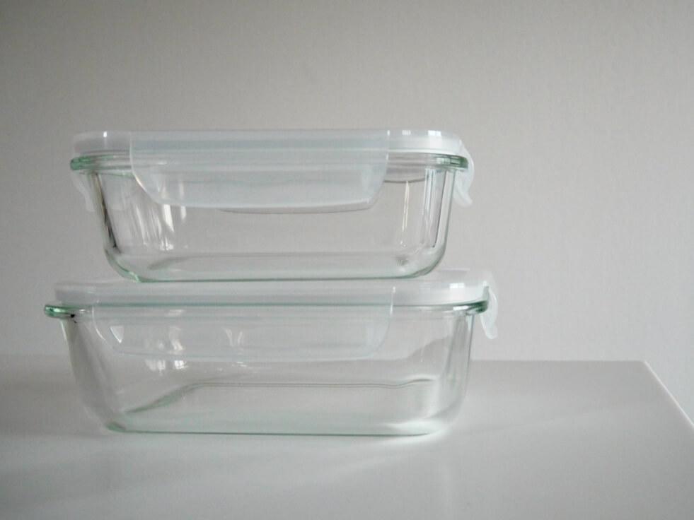 ガラスの保存容器